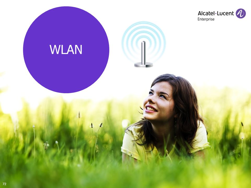 COPYRIGHT © 2012 ALCATEL-LUCENT ENTERPRISE. ALL RIGHTS RESERVED. SMB-Anwender-Seminare 2012 WLAN 72
