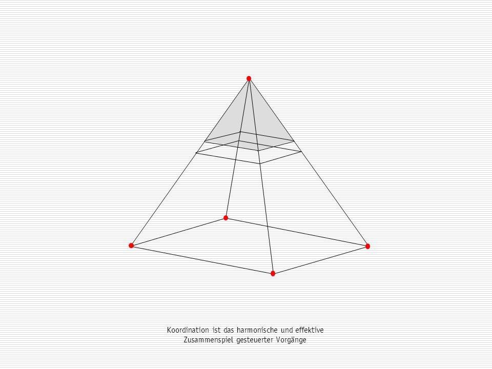 Koordination ist das harmonische und effektive Zusammenspiel gesteuerter Vorgänge