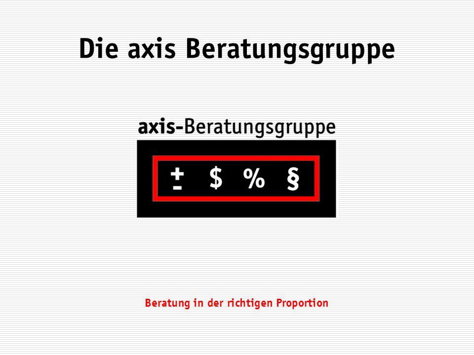 Beratung in der richtigen Proportion Die axis Beratungsgruppe