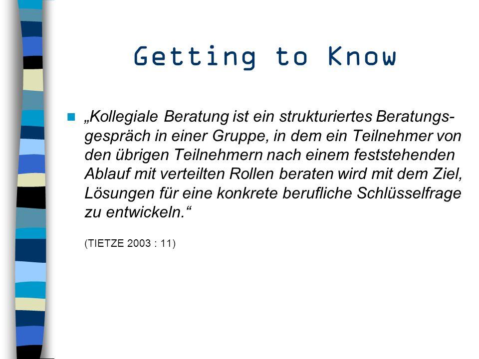 Übersicht Getting to Know – Was ist KF.Getting there – Was will KF eigentlich.