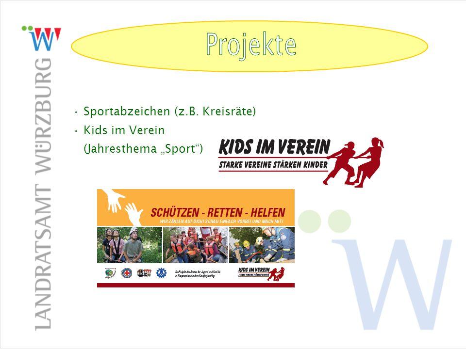 Arbeitskreis Sport in Schule und Verein (Kreisebene) Aufgaben: Durchführung der Schulsportwettbewerbe für alle Schularten Zusammenarbeit mit den Regionen Wü-Stadt und Main- Spessart, dem Sportreferat der Regierung v.