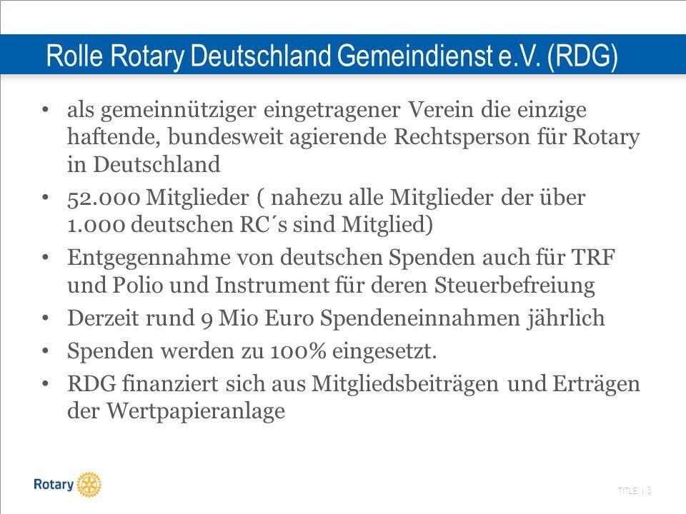 TITLE | 3 Rolle Rotary Deutschland Gemeindienst e.V. (RDG) als gemeinnütziger eingetragener Verein die einzige haftende, bundesweit agierende Rechtspe