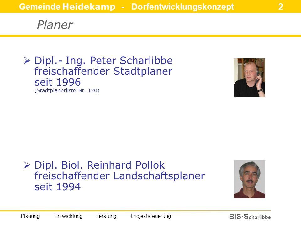 Gemeinde Heidekamp - Dorfentwicklungskonzept 23 BIS·S charlibbe Planung Entwicklung Beratung Projektsteuerung Bestand und Bewertung – Bauliche Potentiale