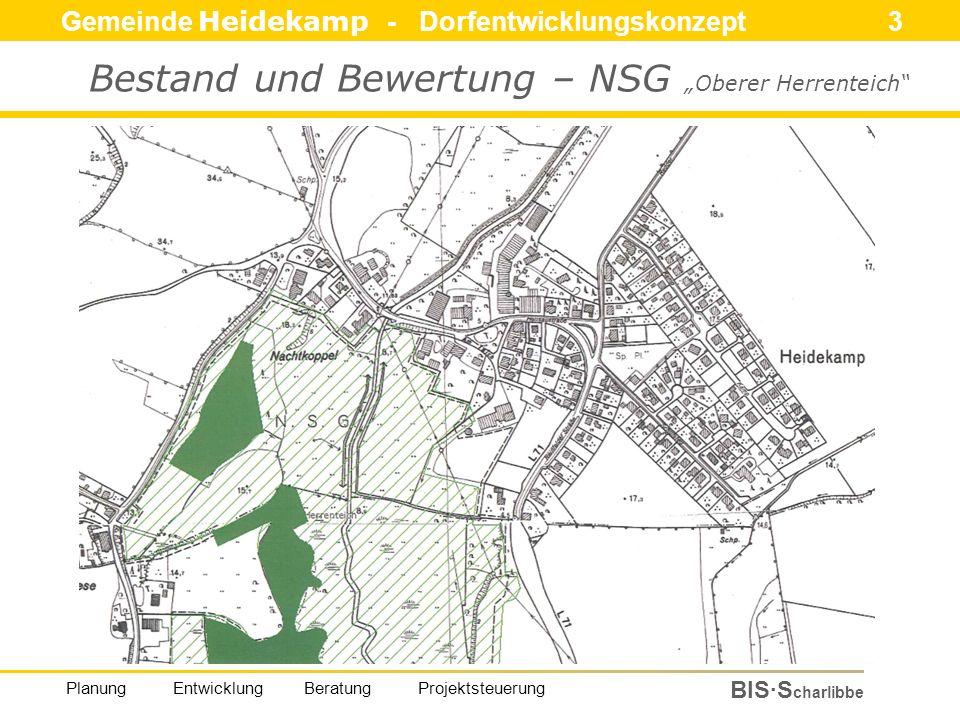 Gemeinde Heidekamp - Dorfentwicklungskonzept 14 BIS·S charlibbe Planung Entwicklung Beratung Projektsteuerung Bestand und Bewertung - Einzelmaßnahmen