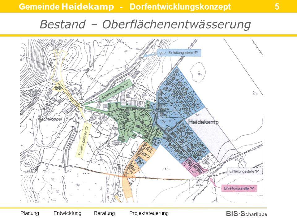 Gemeinde Heidekamp - Dorfentwicklungskonzept 5 BIS·S charlibbe Planung Entwicklung Beratung Projektsteuerung Bestand – Oberflächenentwässerung