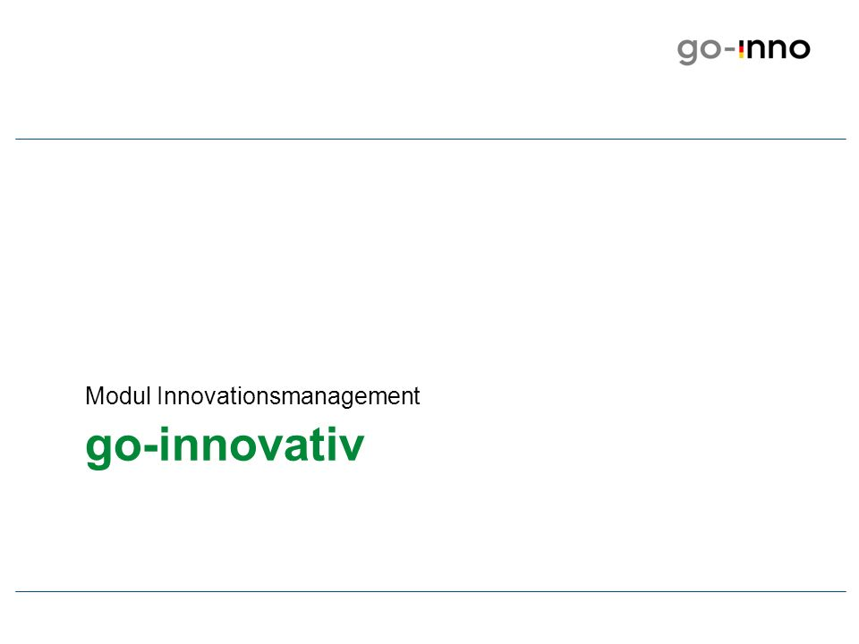 go-innovativ Modul Innovationsmanagement