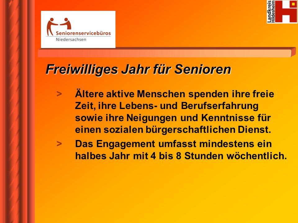 Freiwilliges Jahr für Senioren > Ältere aktive Menschen spenden ihre freie Zeit, ihre Lebens- und Berufserfahrung sowie ihre Neigungen und Kenntnisse