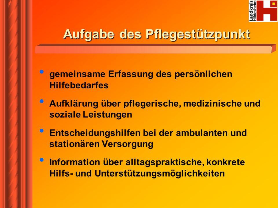 Themen der Beratung Leistungen der sozialen Pflegeversicherung – SGB XI z.