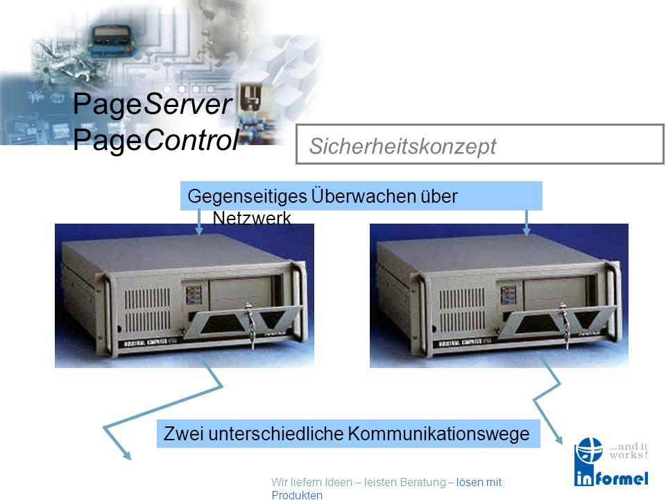 Wir liefern Ideen – leisten Beratung – lösen mit Produkten PageServer PageControl Sicherheitskonzept Sicherheitskonzept für PageServer / PageControl Z