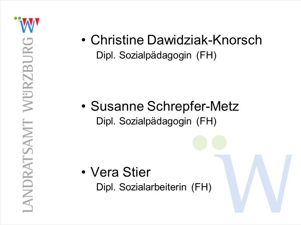 Christine Dawidziak-Knorsch Dipl. Sozialpädagogin (FH) Susanne Schrepfer-Metz Dipl. Sozialpädagogin (FH) Vera Stier Dipl. Sozialarbeiterin (FH)