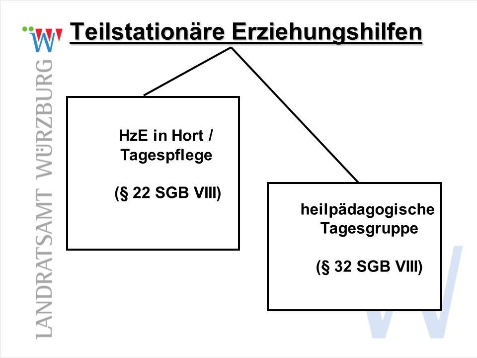 Teilstationäre Erziehungshilfen HzE in Hort / Tagespflege (§ 22 SGB VIII) heilpädagogische Tagesgruppe (§ 32 SGB VIII)