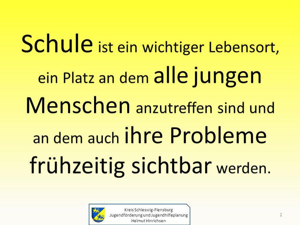Kreis Schleswig-Flensburg Jugendförderung und Jugendhilfeplanung Helmut Hinrichsen 2