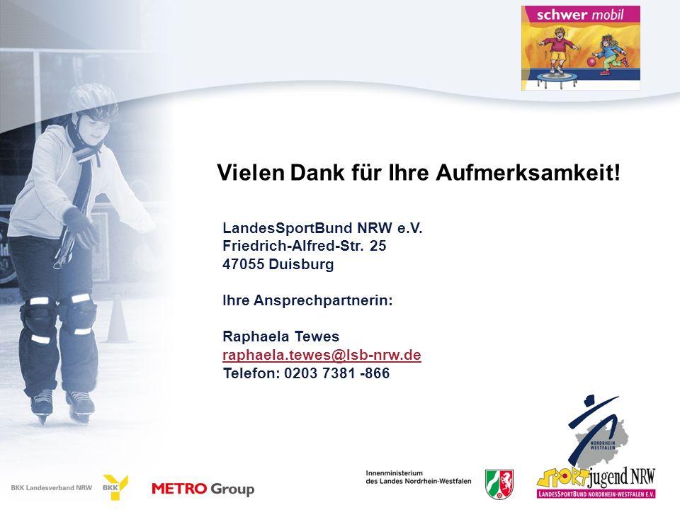 Vielen Dank für Ihre Aufmerksamkeit.LandesSportBund NRW e.V.