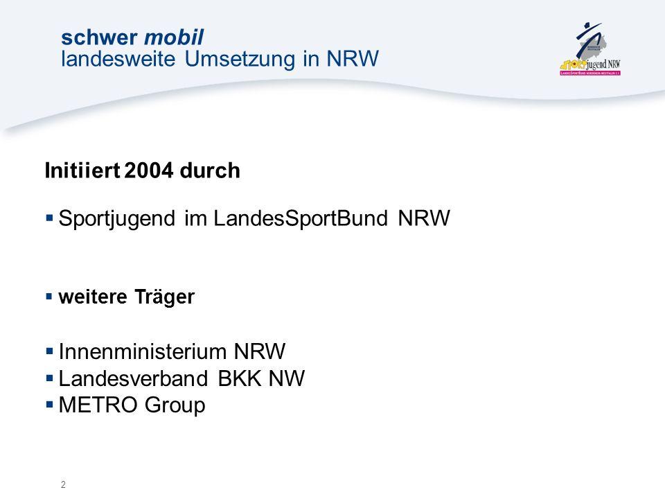 13 schwer mobil landesweite Umsetzung in NRW Was haben Mädchen und Jungen davon.