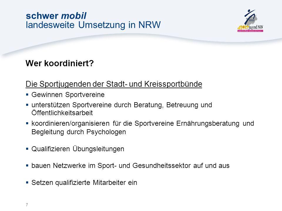 7 schwer mobil landesweite Umsetzung in NRW Wer koordiniert.