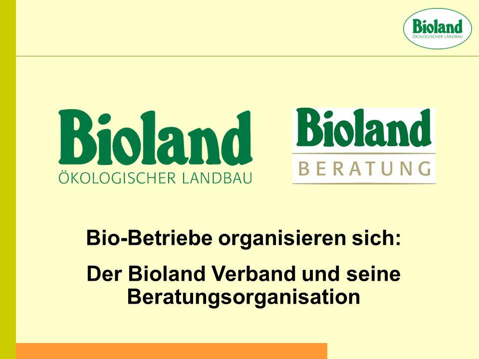 Bio-Betriebe organisieren sich: Der Bioland Verband und seine Beratungsorganisation