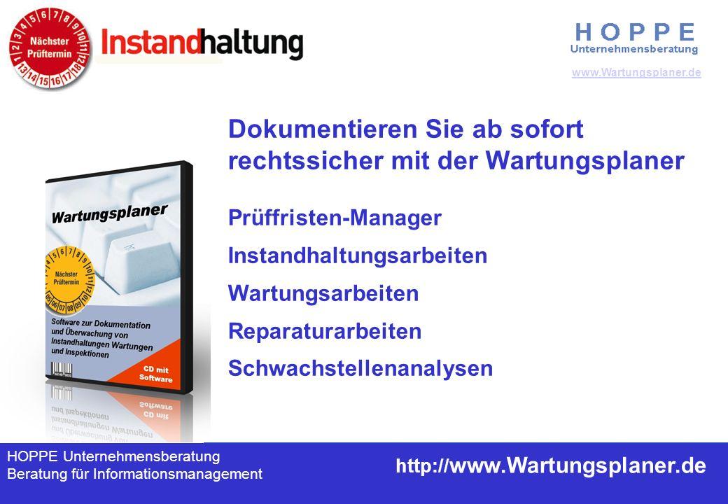 HOPPE Unternehmensberatung, Deutschland 63150 Heusenstamm +49 (0) 61 04 / 6 53 27 www.Hoppe – net.de Cockpit / Leitstand inkl.