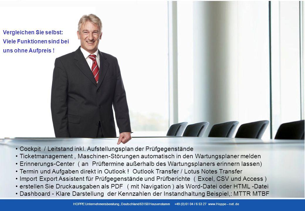 HOPPE Unternehmensberatung, Deutschland 63150 Heusenstamm +49 (0) 61 04 / 6 53 27 www.Hoppe – net.de Übersichtliche Reports als WORD – EXPORT, als PDF-Datei mit Navigationsleiste und HTML-Export
