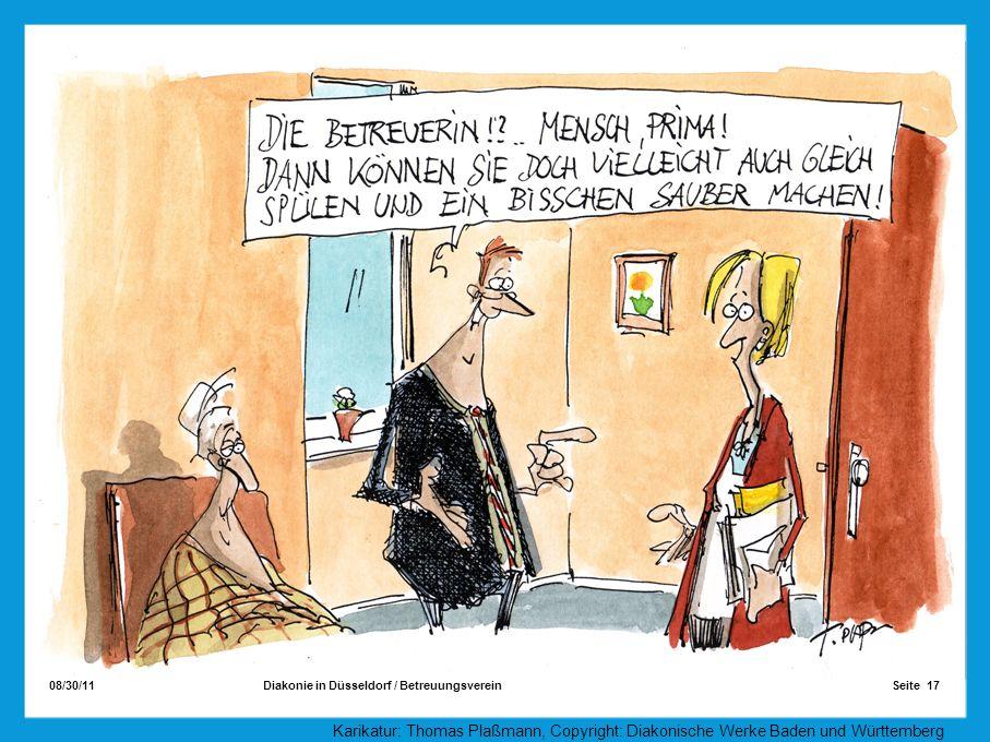 08/30/11 Seite 17Diakonie in Düsseldorf / Betreuungsverein Die Aufgaben des Betreuers Karikatur: Thomas Plaßmann, Copyright: Diakonische Werke Baden u