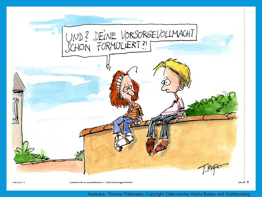 08/30/11 Seite 8Diakonie in Düsseldorf / Betreuungsverein Karikatur: Thomas Plaßmann, Copyright: Diakonische Werke Baden und Württemberg