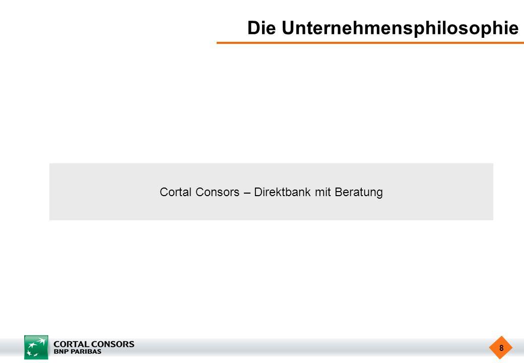 8 Die Unternehmensphilosophie Cortal Consors – Direktbank mit Beratung