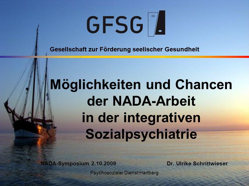 Gesellschaft zur Förderung seelischer Gesundheit Psychosozialer Dienst Hartberg Gesellschaft zur Förderung seelischer Gesundheit Möglichkeiten und Cha