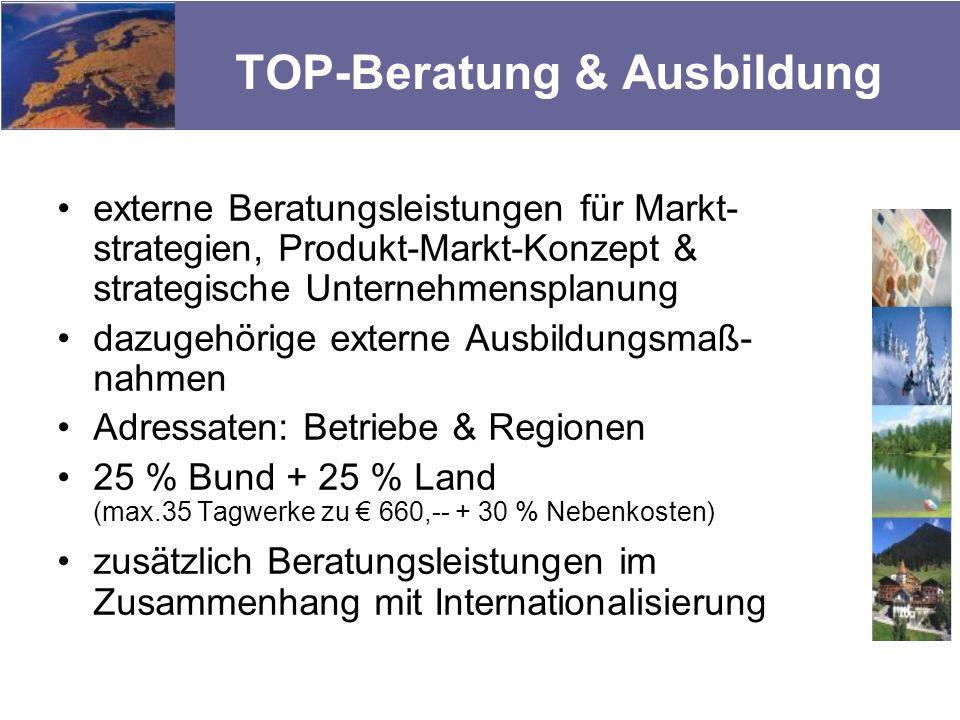 TOP-Beratung & Ausbildung externe Beratungsleistungen für Markt- strategien, Produkt-Markt-Konzept & strategische Unternehmensplanung dazugehörige ext