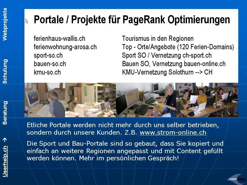 Userhelp.chUserhelp.ch Beratung Schulung Webprojekte Wir schulen und begleiten Sie.