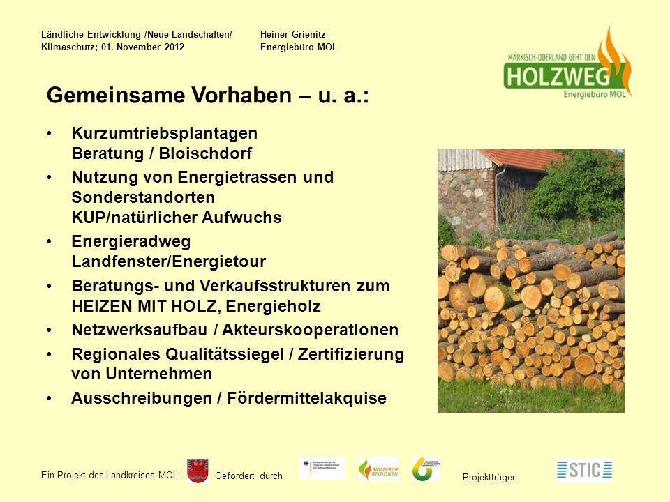Gefördert durch Ein Projekt des Landkreises MOL : Projektträger: Gemeinsame Vorhaben – u.