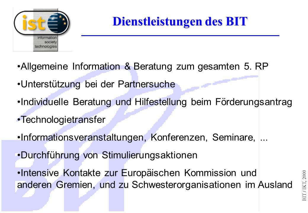 BIT / IKT, 2000 Ist es die Mühe Wert? Grundlagen der Entscheidung EU-Projekte: go or no go?