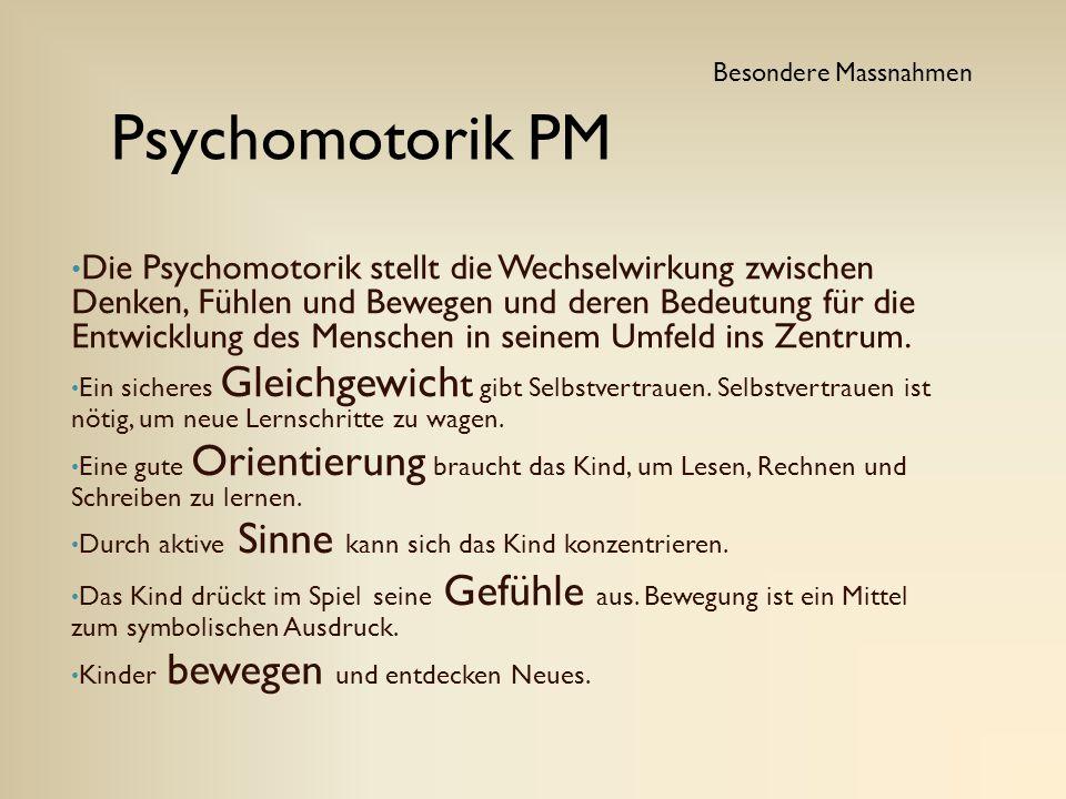 Die Psychomotorik stellt die Wechselwirkung zwischen Denken, Fühlen und Bewegen und deren Bedeutung für die Entwicklung des Menschen in seinem Umfeld