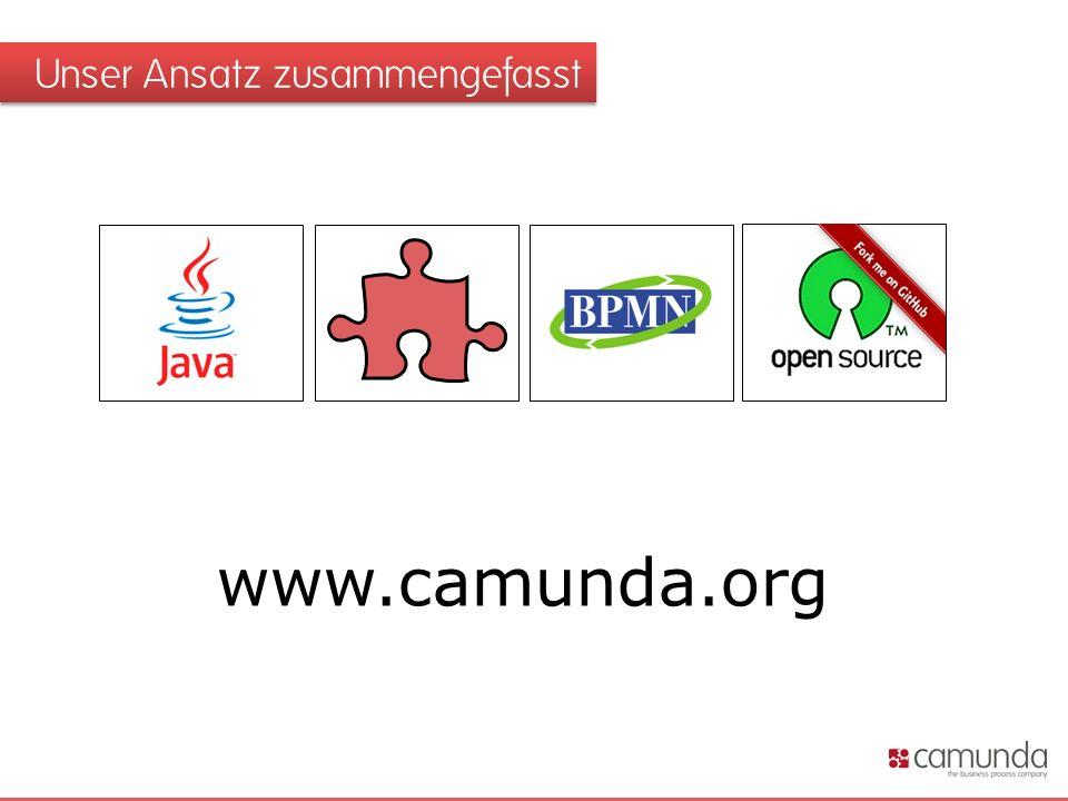 Unser Ansatz zusammengefasst 231 4 www.camunda.org
