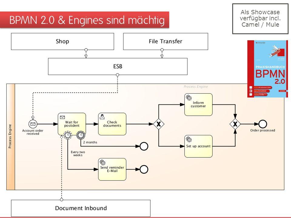 BPMN 2.0 & Engines sind mächtig Als Showcase verfügbar incl. Camel / Mule