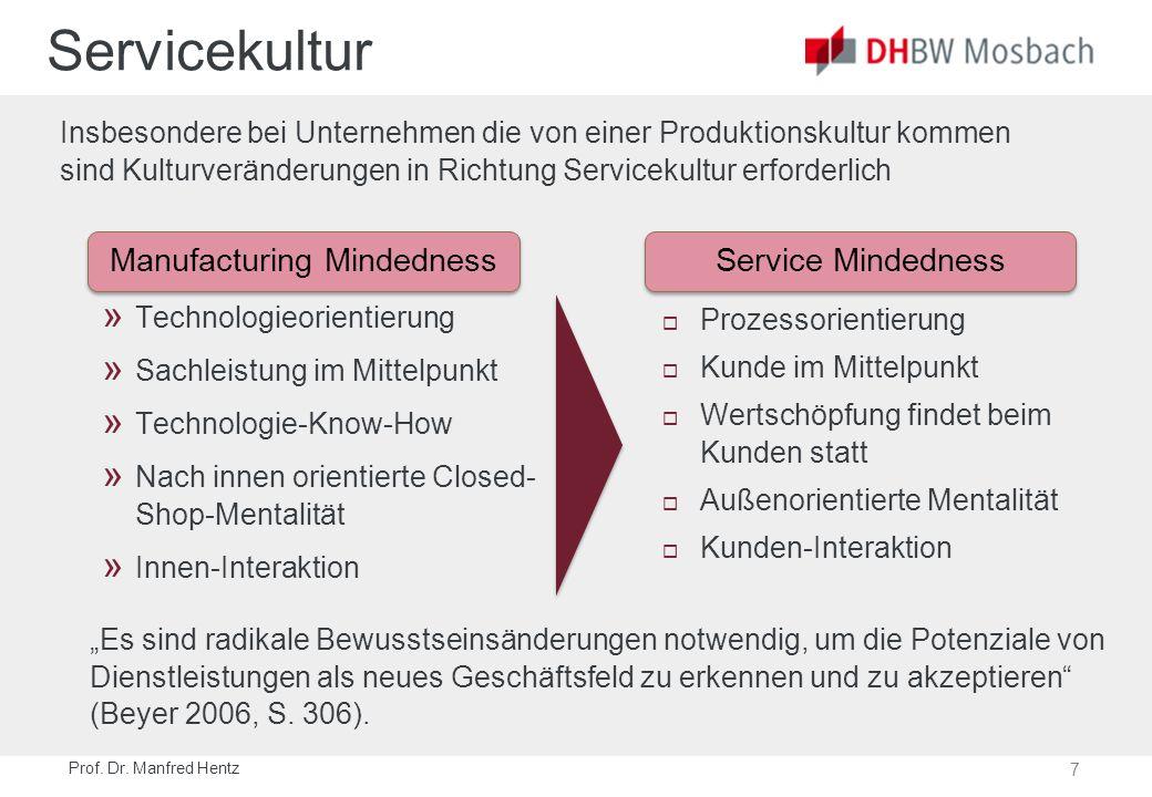 7 Prof. Dr. Manfred Hentz Servicekultur » Technologieorientierung » Sachleistung im Mittelpunkt » Technologie-Know-How » Nach innen orientierte Closed
