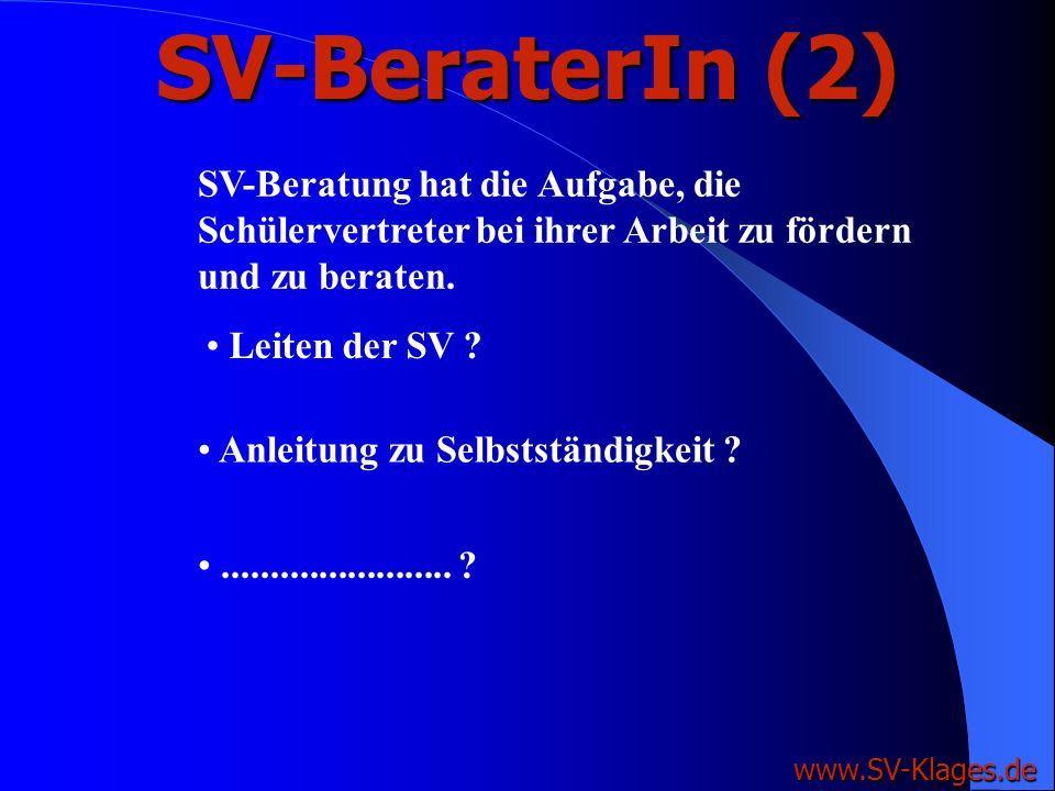 SV-BeraterIn (1) www.SV-Klages.de Die Vorschrift des §80 Abs. 6 (NSchG) ist lediglich Kann-Vorschrift, d.h. es liegt in der freien Entscheidung des Sc