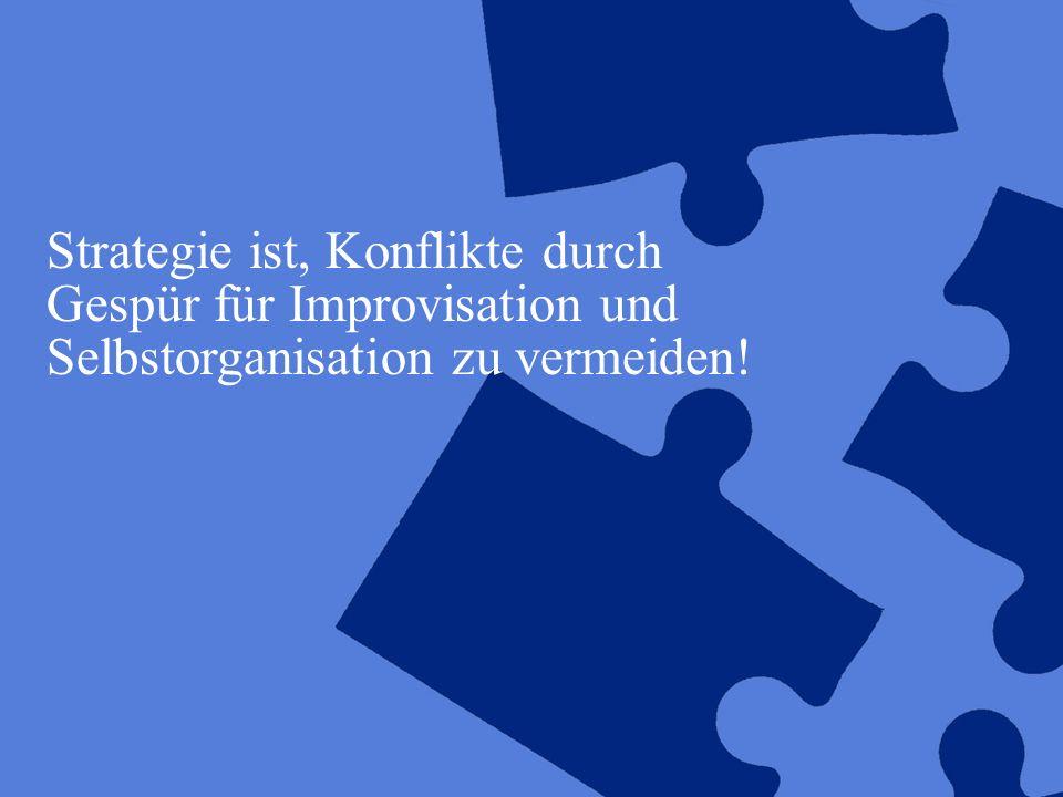 ©2005 Deloitte & Touche GmbH ASpB-Tagung 2005, UB der TU München11 Strategie ist, Konflikte durch Gespür für Improvisation und Selbstorganisation zu v