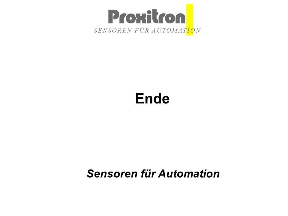 Sensoren für Automation Ende