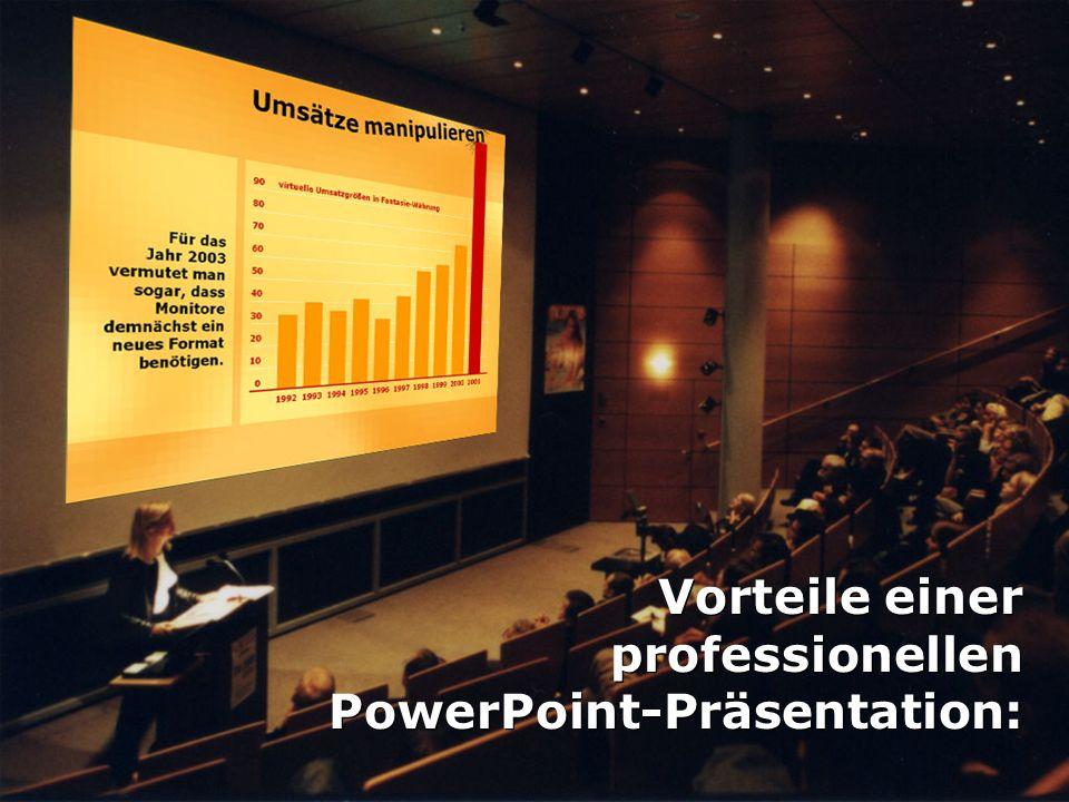 Vorteile einer professionellen PowerPoint-Präsentation:
