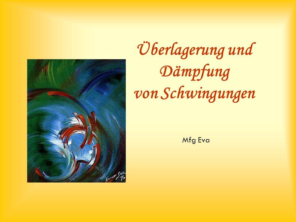 Überlagerung und Dämpfung von Schwingungen Mfg Eva
