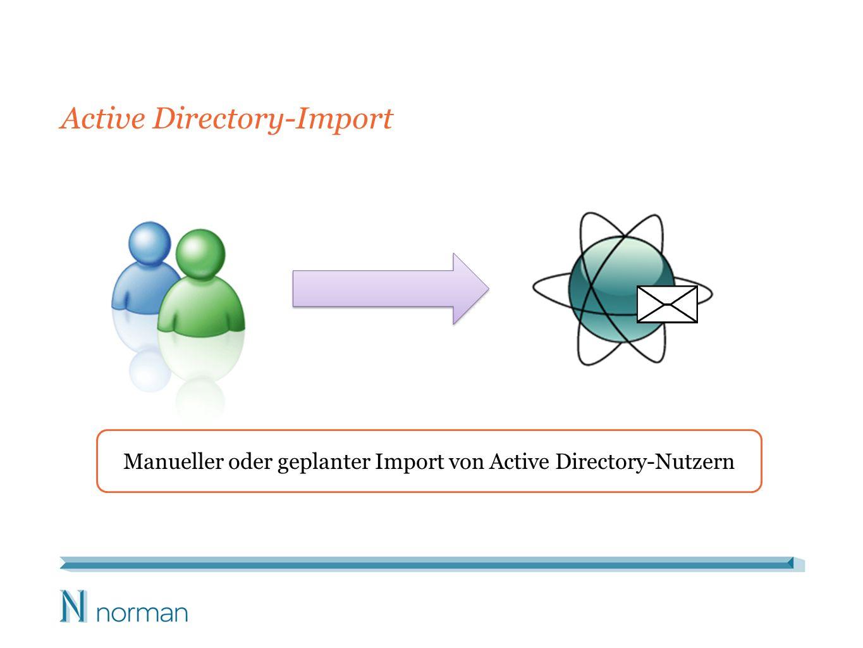 Active Directory-Import Manueller oder geplanter Import von Active Directory-Nutzern