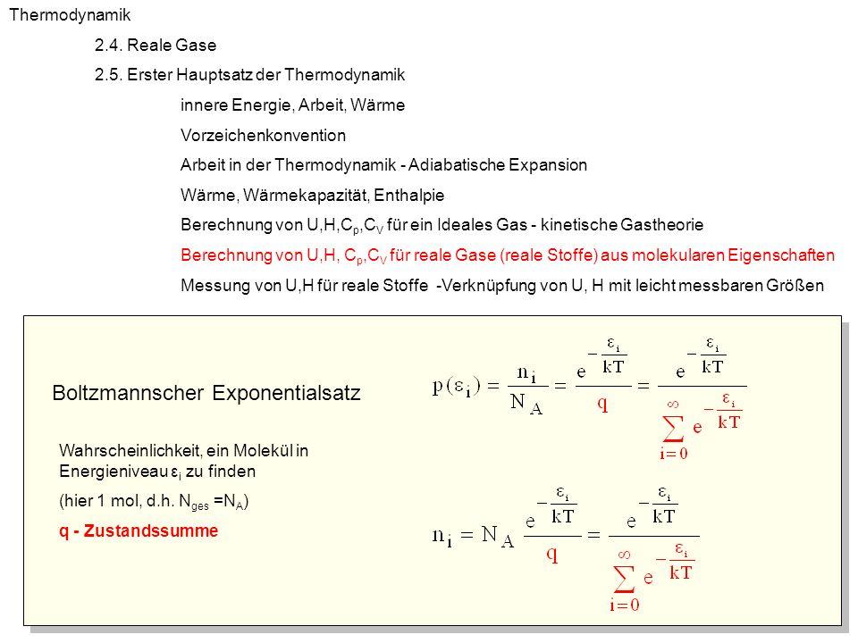 Innere Energie, Berechnung aus mikroskopischen Eigenschaften Thermodynamik 2.4.