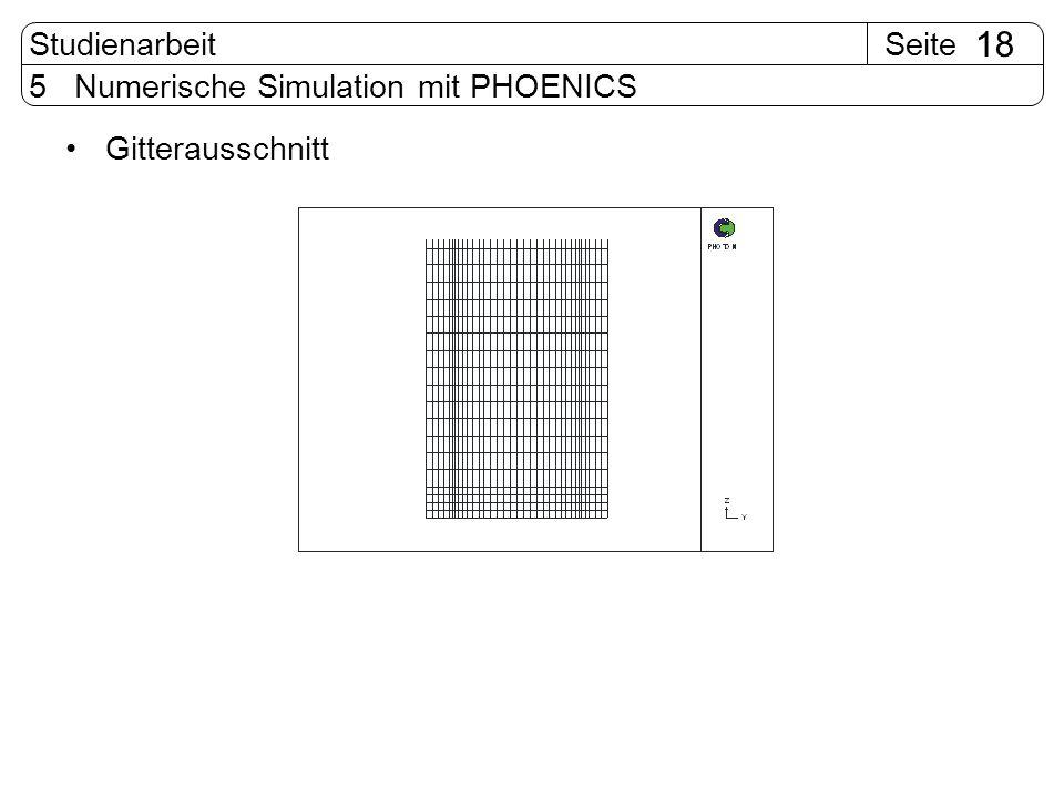 SeiteStudienarbeit 18 5 Numerische Simulation mit PHOENICS Gitterausschnitt