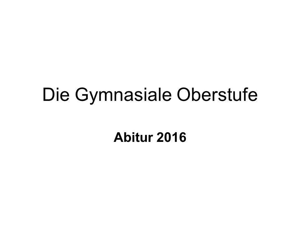 1.Allgemeine Informationen für die Oberstufe (Sekundarstufe II).