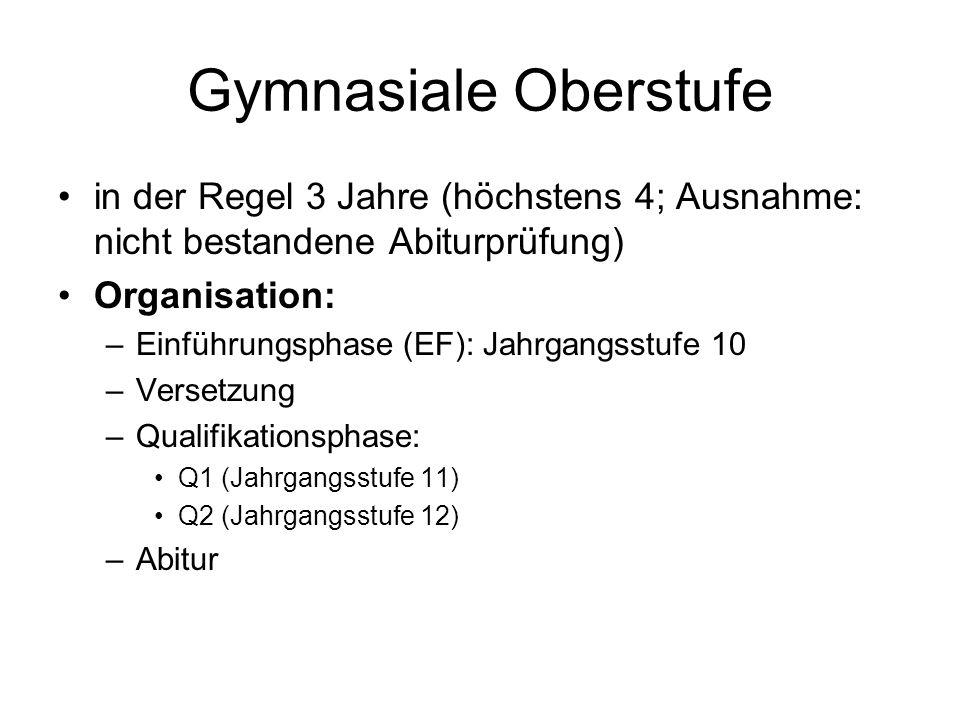 Abitur 4 Abiturfächer 2 Leistungskurse.