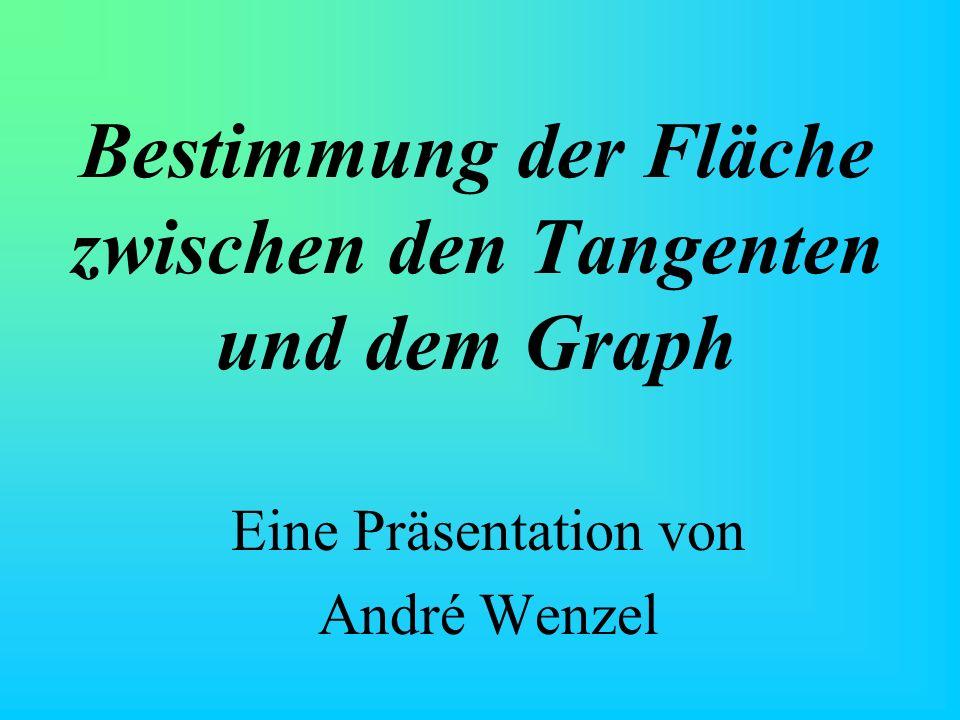 Bestimmung der Fläche zwischen den Tangenten und dem Graph Eine Präsentation von André Wenzel