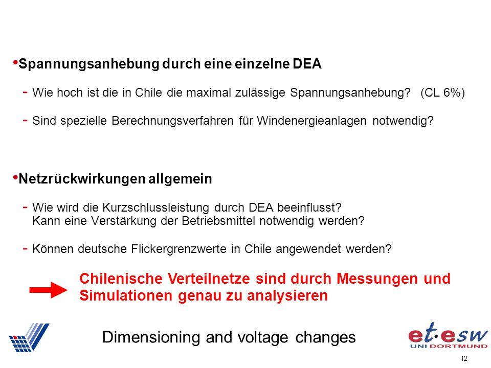 12 Dimensioning and voltage changes Spannungsanhebung durch eine einzelne DEA - Wie hoch ist die in Chile die maximal zulässige Spannungsanhebung? (CL