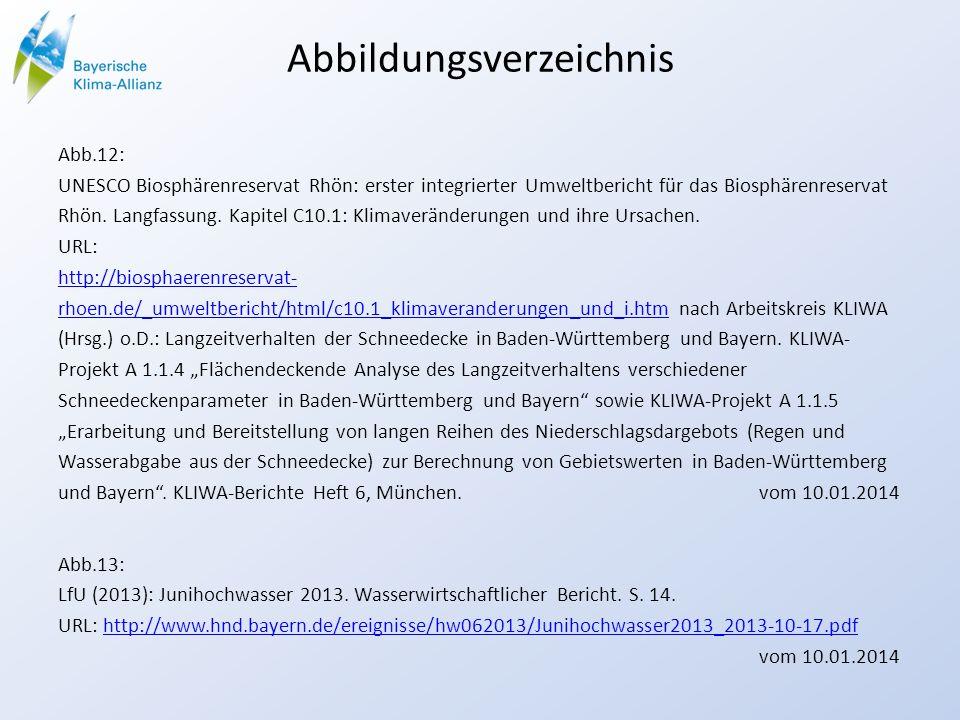 Abbildungsverzeichnis Abb.12: UNESCO Biosphärenreservat Rhön: erster integrierter Umweltbericht für das Biosphärenreservat Rhön. Langfassung. Kapitel