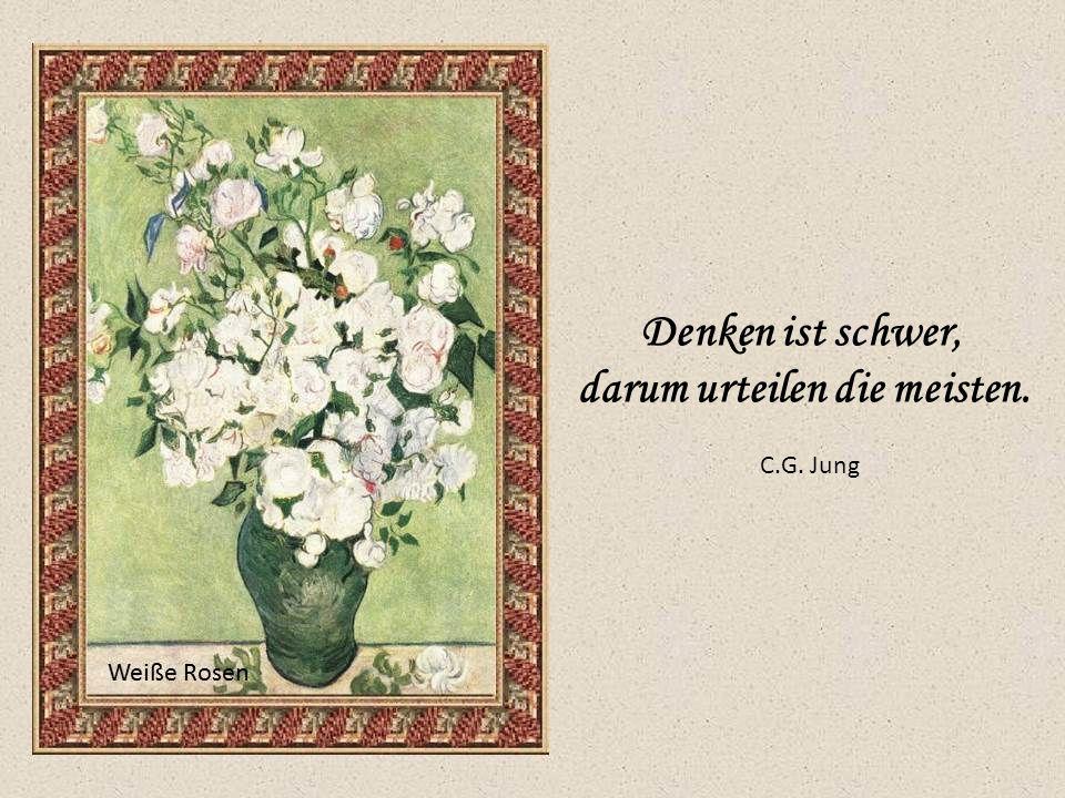 Denken ist schwer, darum urteilen die meisten. C.G. Jung