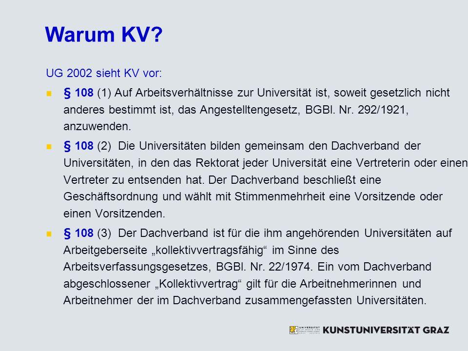 Anrechnung von Vordienstzeiten Neuanstellungen (Eintritt ab 1.10.2009): Wahl des KUG-Schemas: § 51 (1) B.