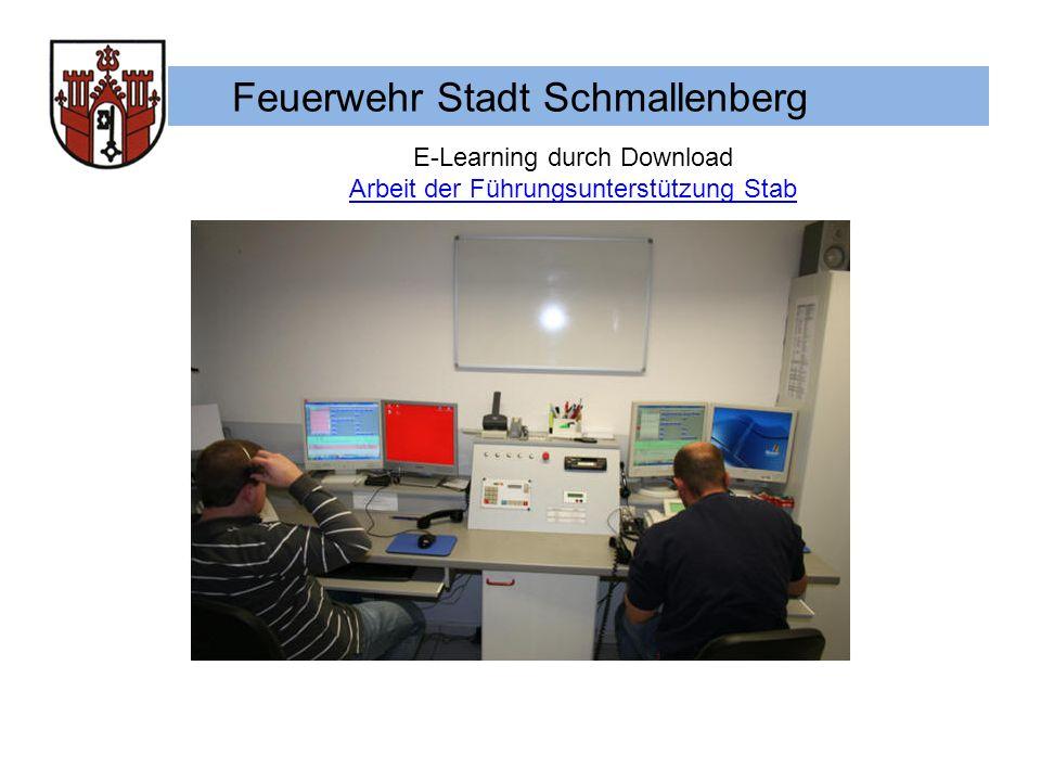 Feuerwehr Stadt Schmallenberg E-Learning durch Download Arbeit der Führungsunterstützung Stab
